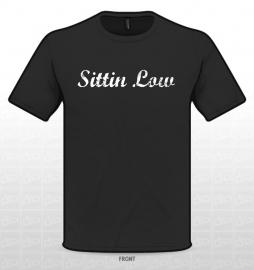 SITTIN LOW T-SHIRT ZWART OLD STYLE