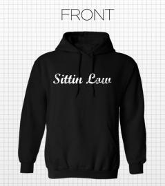 SITTIN LOW HOODIE BLACK OLD STYLE