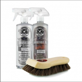 CONVERTIBLE TOP CLEANER & PROTECTANT KIT + HORSE HAIR CLEANING BRUSH