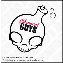CHEMICAL GUYS FULL SKULL STICKER