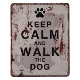 Tekstbord | Keel Calm and Walk the Dog