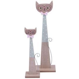 Decoratie   Katten Stelletje Mint Groen