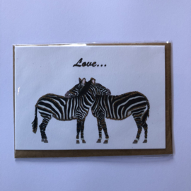 Kaart | Verliefde Zebra's