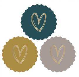 Stickers | Gouden Hart 9 stuks