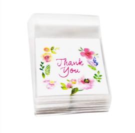 Cadeauzakjes | Transparant Thank You 5,5x5,5 cm