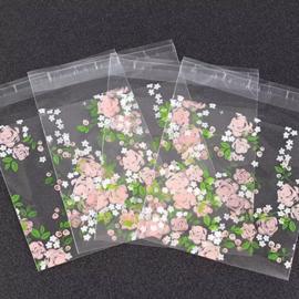 Cadeauzakjes | Transparant Roosjes 10x10 cm