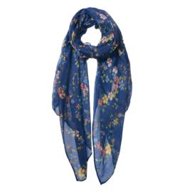 Sjaaltje   Blauw met Bloemen
