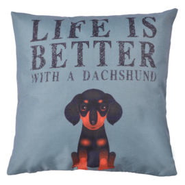 Kussenhoes | Life is better with a dachshund