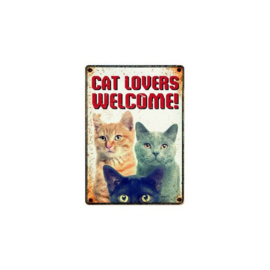 Bord: Cat Lovers Welcome