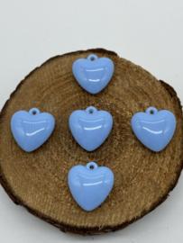Acryl Bedels | Hartje Licht Blauw | H2