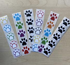 30 pootjes stickers