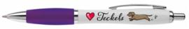 Pen   Love Teckels   Paars