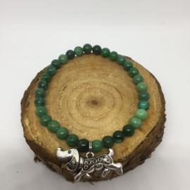 Teckelarmband | Groene Natuursteentjes