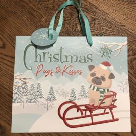 Cadeautasje | Kerst Mopshond