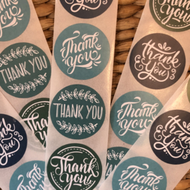 Sluitstickers | Thank You (Groenkleuren)