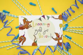 Teckelkaart | Laaaang zal je leven!