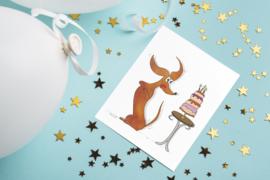 Teckelkaart | Wally de teckel en de taart