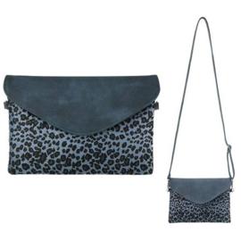 Handtas | Leopard Print Blauw