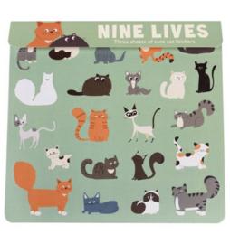 Stickers | Nine lives ( 3 velletjes)