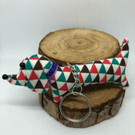 Teckelsleutelhanger | Driehoekjes