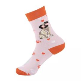 Verliefd Mopshondje Sokken maat 36-40