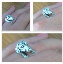 Teckel Ring Zilverkleur