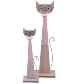 Decoratie   Katten Stelletje Roze