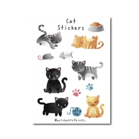 Stickervel | Katten