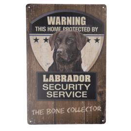 Waakbord | Warning! Labrador Security Service