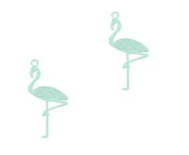 Bedel | Mint Groene Flamingo
