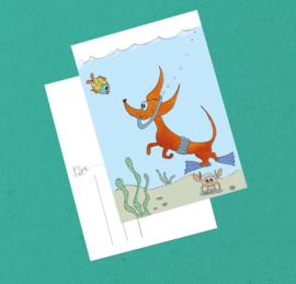 Teckelkaart | Wally de Duiker