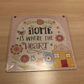 Tekstbord | Home is where the heart is