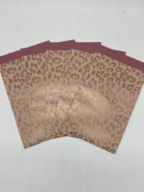 5 kadozakjes   Panter Roze   12x19 cm