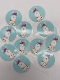 Sluitstickers | Alpaca Mint Groen (2)