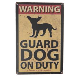 Tekstbord Warning!