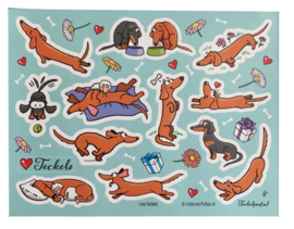 Stickervel | Love Teckels