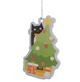 Voor in de auto | Luchtverfrisser Feline met Kerstboom