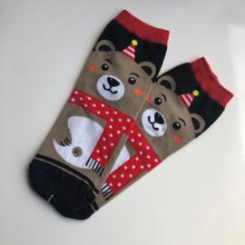 Kerstbeer Sokken Maat 35-39