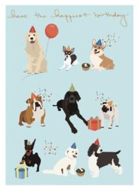 Verjaardagskaart | Honden