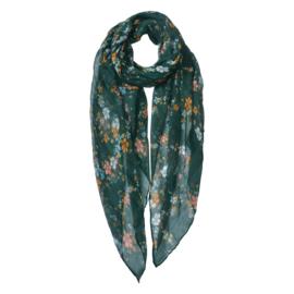 Sjaaltje | Groen met Bloemen