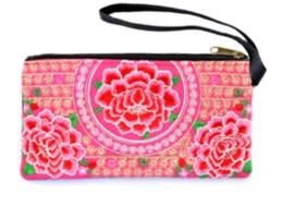Roze Bloemen Clutch