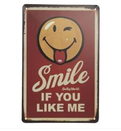 Tekstbord Smile