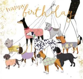 Verjaardagskaart | Hondjes