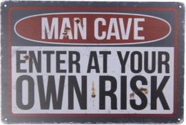 Tekstbord Man Cave