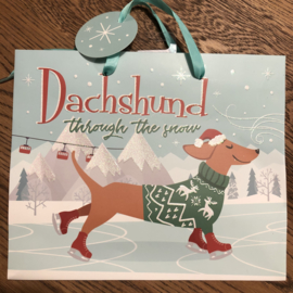 Cadeautasje | Dachshund through the snow