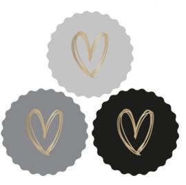 Stickers | Gouden Hart | 9 stuks