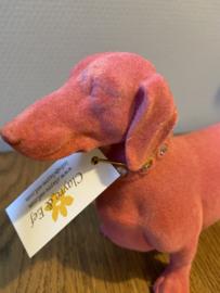 Teckelbeeld | Fluweel Roze
