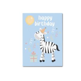 Ansichtkaart | Zebra