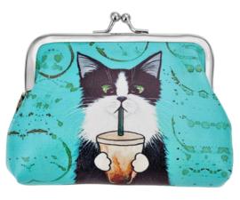 Portemonnee | Zwart wit katje