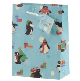 Cadeautasje Medium | Kerstpinguins